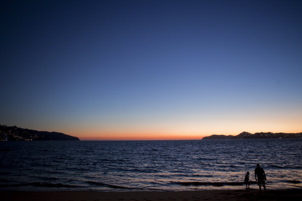 Aspectos del atardecer en Acapulco, Guerrero. (Getty images, archivo)