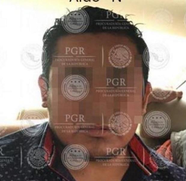 """Autoridades detuvieron a Aldo """"N"""", administrador único de una empresa de fibras y tejidos (Foto: PGR)"""