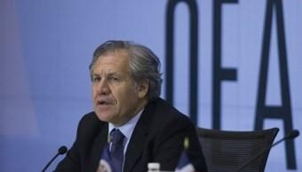 El secretario general de la OEA, Luis Almagro, durante el cierre de la 46ª Asamblea de la Organización de Estados Americanos en Santo Domingo (Reuters/archivo)