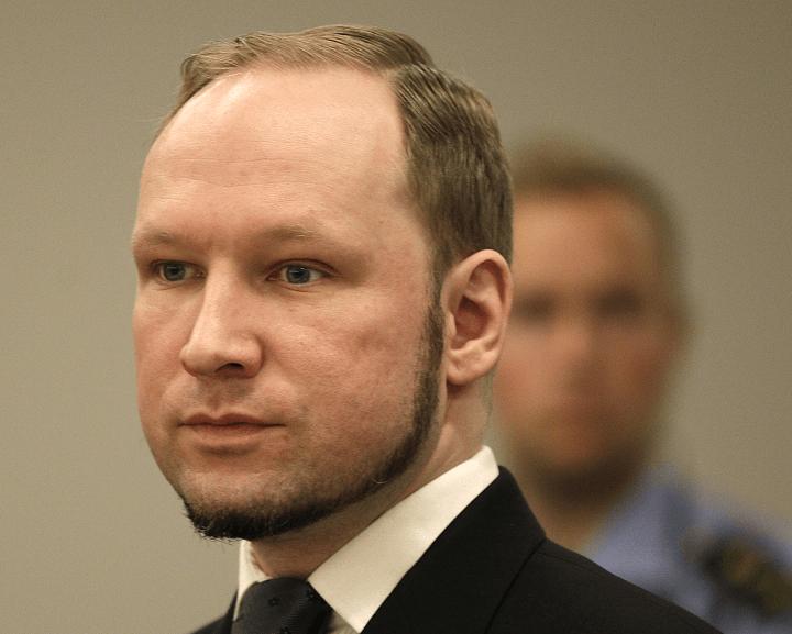 Anders Behring Breivik, autor de los atentados de 2011 en Noruega. (AP, archivo)