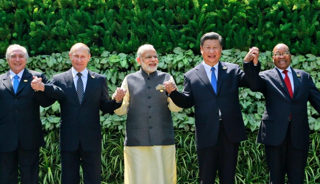 Líderes de los países integrantes del BRICS (AP)