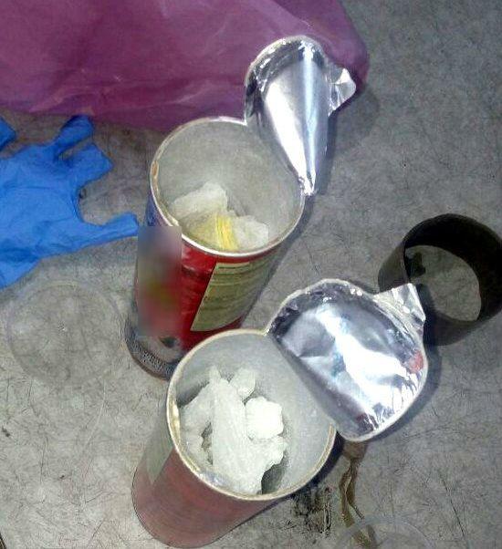 Aseguran en Sonora heroína y cristal dentro de lata de papas fritas. (Twitter @PespSonora)