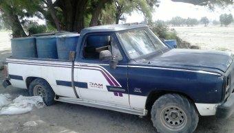 Aseguran vehículos con combustible robado en Puebla. (Twitter @SSP_Puebla)
