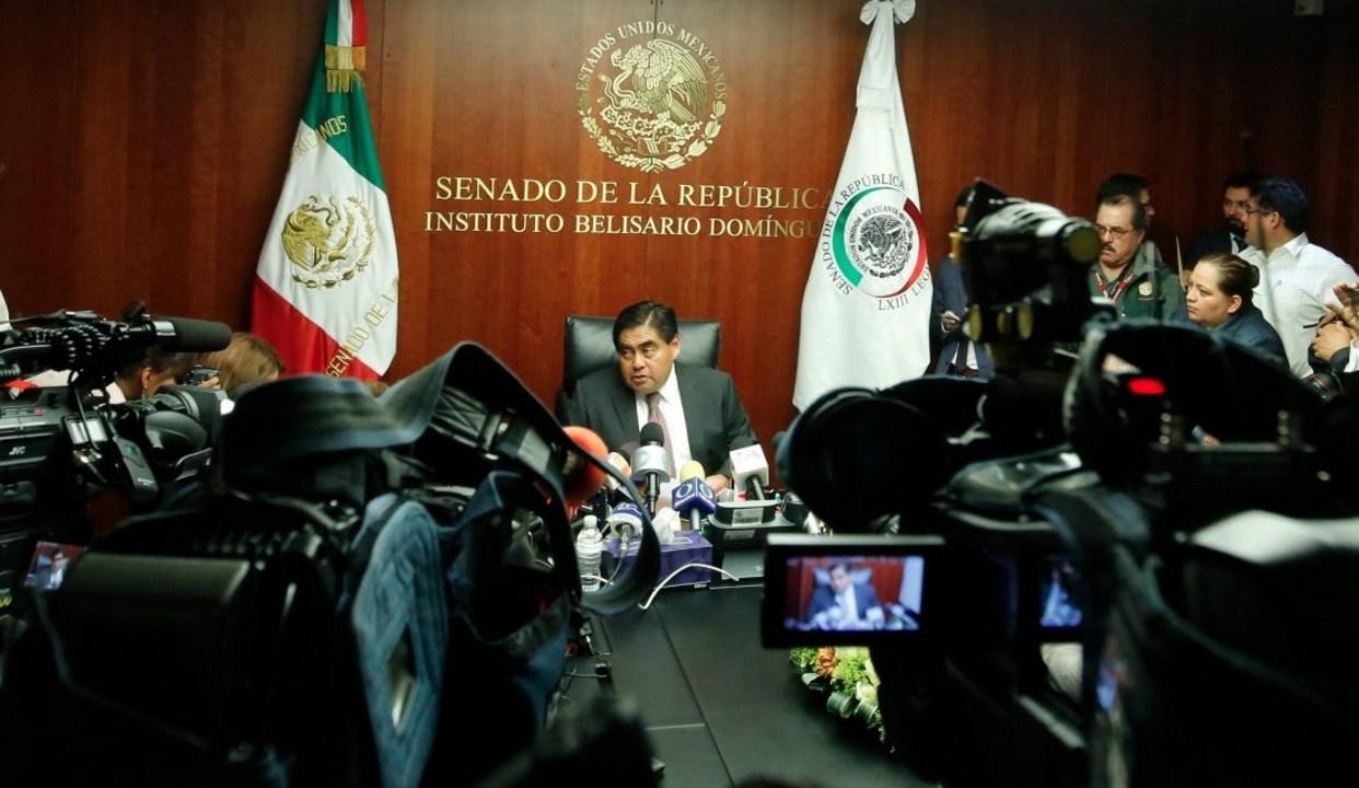 Luis Miguel Barbosa, coordinador del PRD en el Senado.