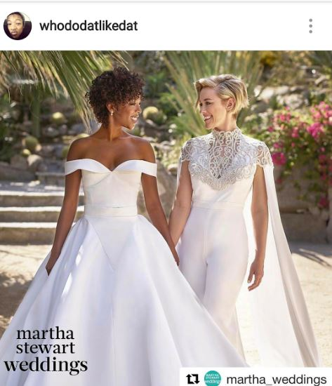 La boda se realizó en Palm Springs, California y tuvo el respaldo, sobre todo, de los padres de Samira Wiley (Instagram/@whododatlikedat)
