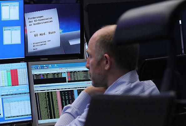 Operador de la Bolsa de Frankfurt. (Getty Images)