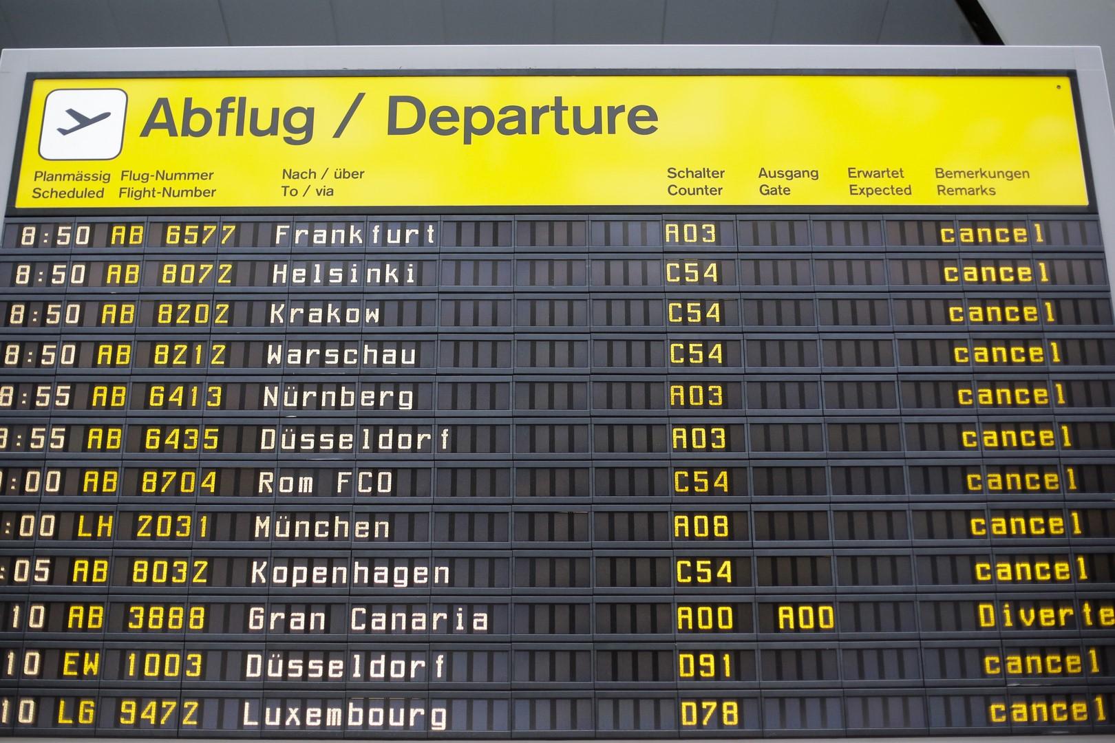 Alemania: Nueva huelga en los aeropuertos de Berlín