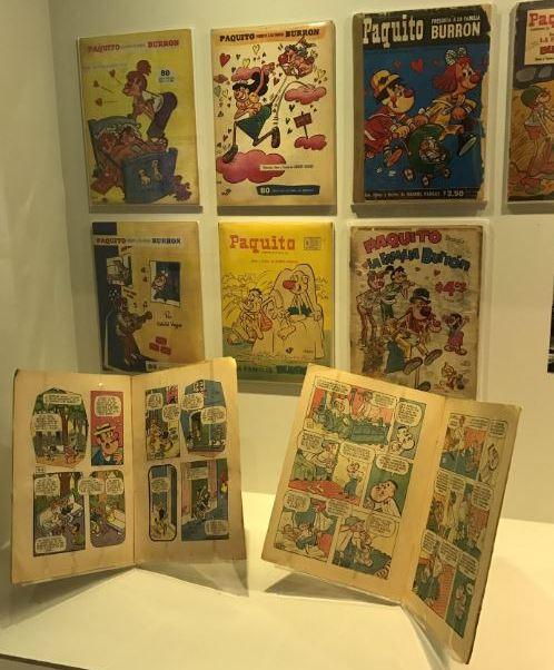 Se exhiben más de 150 piezas, entre dibujos originales, historietas y figuras (Twitter/@Irma00MR)