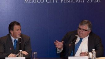 José Antonio Meade Kuribreña y Agustín Carstens. (Getty Images)