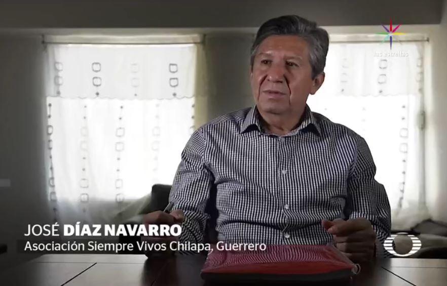 El grupo criminal 'Los Ardillos' intentó matar a José Díaz Navarro, líder de la Asociación Siempre Vivos Chilapa, Guerrero; él huyó, pero hace tres semanas, su nombre apareció en las llamadas 'Listas de la Muerte', donde los sicarios anuncian a quien van a matar. (Noticieros Televisa)