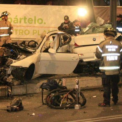 Video muestra momento del choque del BMW en Paseo de la Reforma