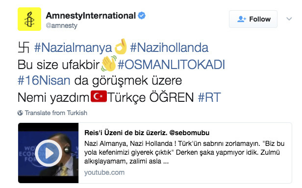 Ciberataque a la cuenta de Twitter de Amnistía Internacional (AP)