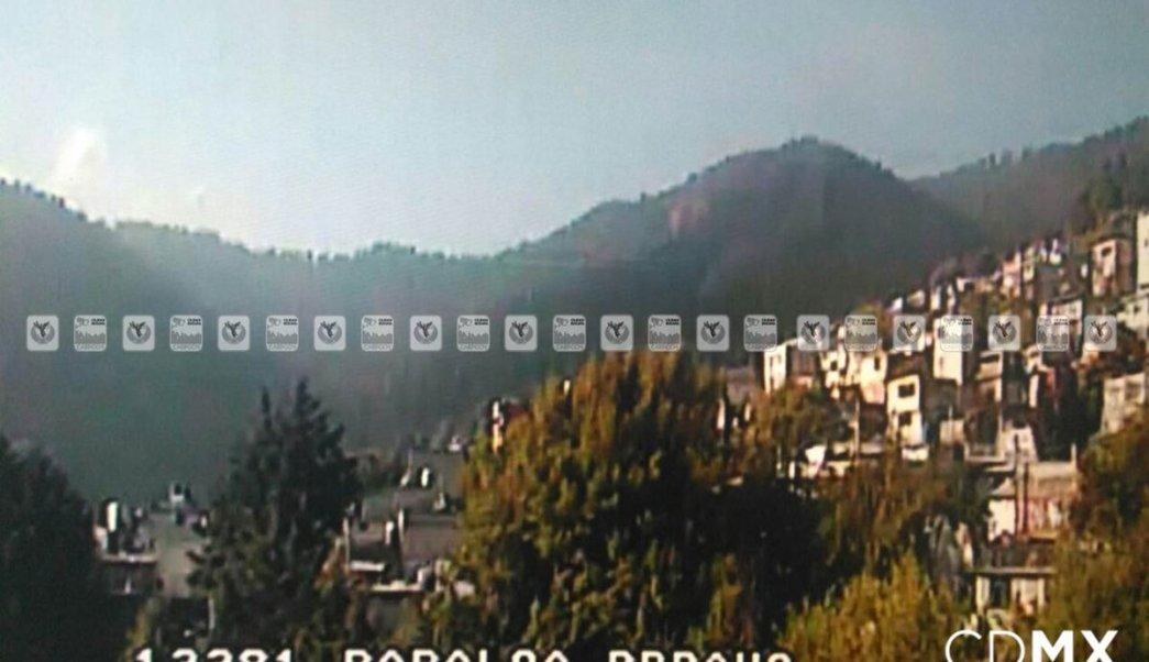 Controlan incendio en Parque Ecológico Los Dinamos. (Twitter @ciudad_segura)