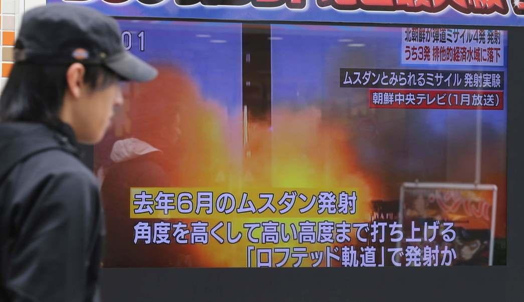 Corea del Norte lanzó cuatro misiles balísticos que volaron a unos mil kilómetros antes de caer al mar en aguas de la Zona Económica Especial (EEZ) de Japón