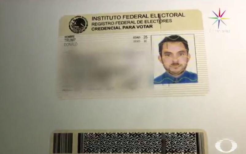 Credencial de elector falsificada para un reportaje de Despierta con Loret (Noticieros Televisa)