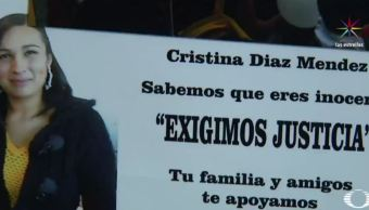 Cristina Díaz Méndez fue acusada de robo y presa en Santa Martha Acatitla. (Noticieros Televisa)