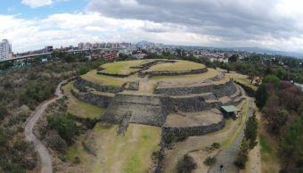 Este lunes la zona arqueológica de Cuicuilco permaneció abierta de nueve de la mañana a cinco de la tarde (Notimex/Archivo)