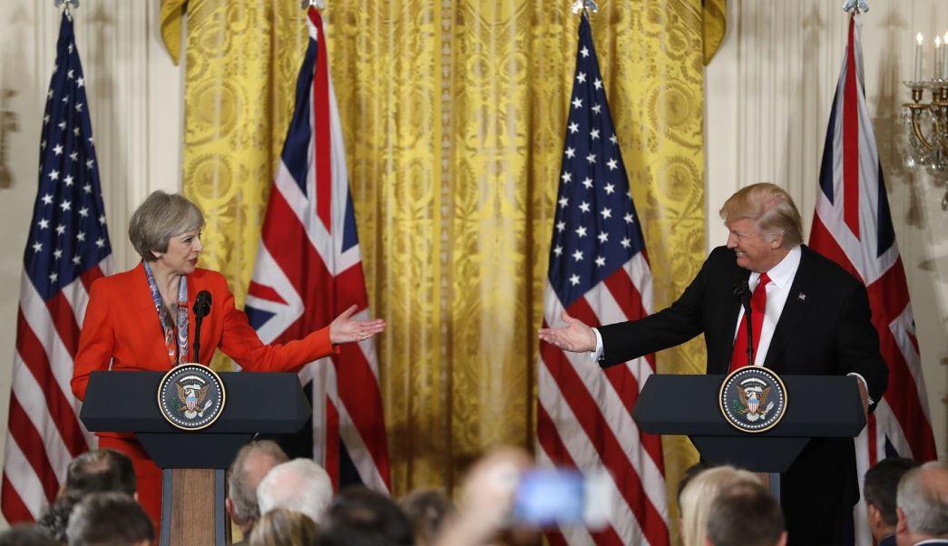 May invitó a Trump a realizar una visita de Estado al Reino Unido cuando el pasado enero visitó al presidente recién investido en Washington