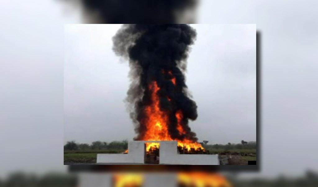 Droga asegurada en Nuevo León relacionada a 57 expedientes; los narcóticos son incinerados (Noticieros Televisa)