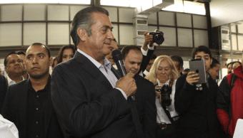 Gobernador de Nuevo León solicita licencia para dejar cargo