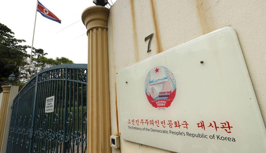 Embajada de Corea del Norte en Malasia. (AP)