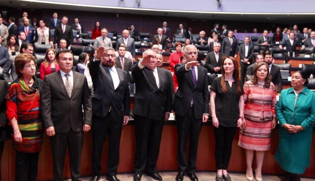 Tras ser ratificados por el pleno del Senado, Julián Ventura Valero, Rogelio Granguillhome Morfin y Daniel Hernández Joseph, rindieron protesta como embajadores en Reino Unido, Alemania y Grecia.
