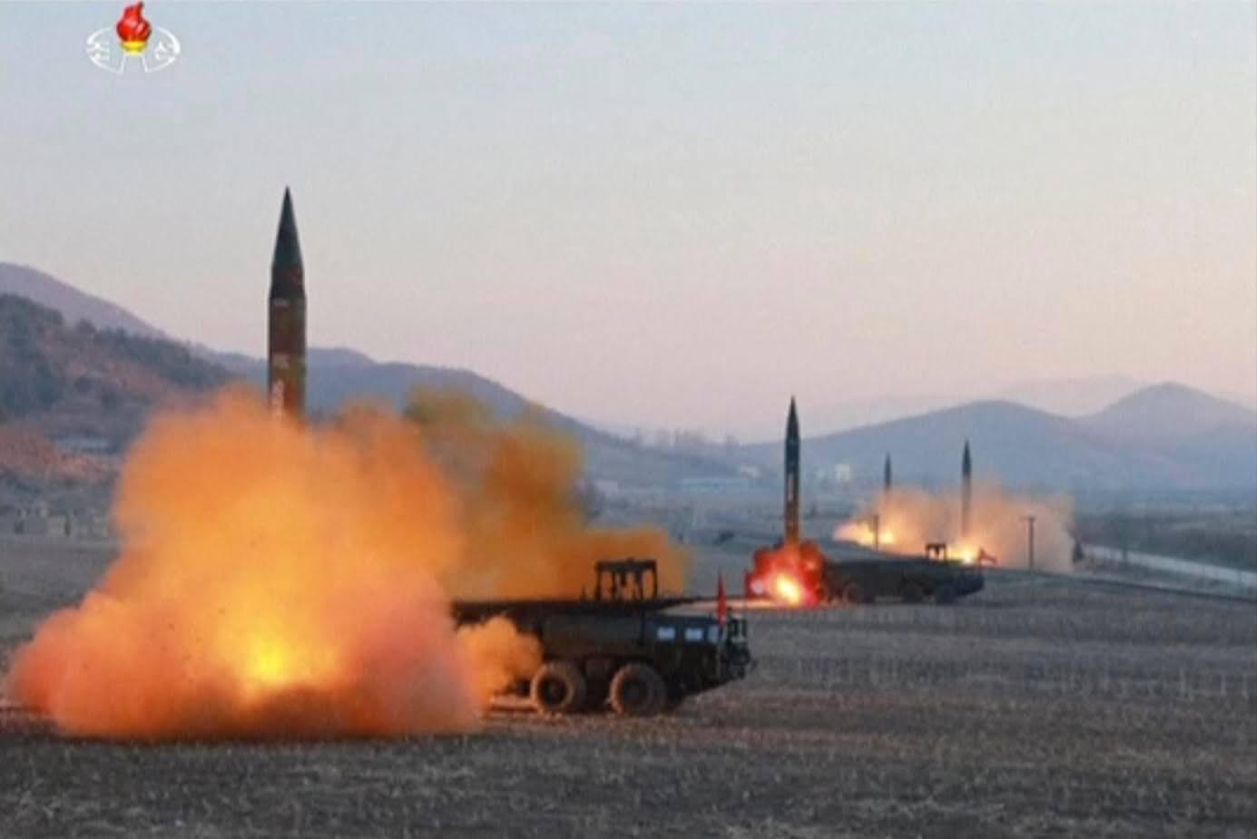 Corea del Norte lanzó cuatro misiles el pasado lunes 6 de marzo. (AP)