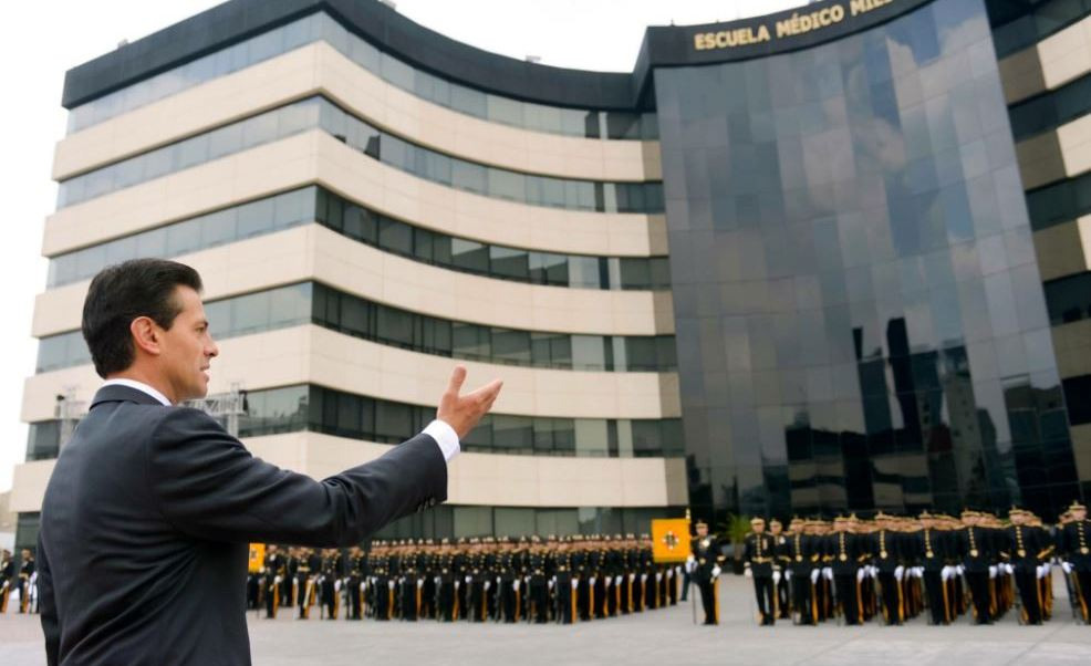Peña inauguró las nuevas instalaciones de la Escuela Militar de Enfermeras (Twitter/@PresidenciaMX)