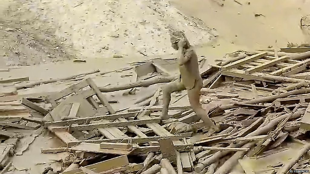Evangelina Chamorro se convirtió en un símbolo de lucha tras las severas inundaciones en Perú.