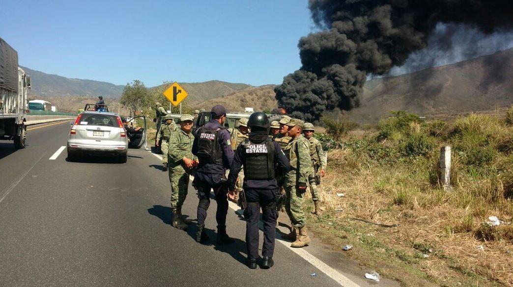 Se registra explosión en poliducto de Nogales, Veracruz (Twitter @SP_Veracruz)