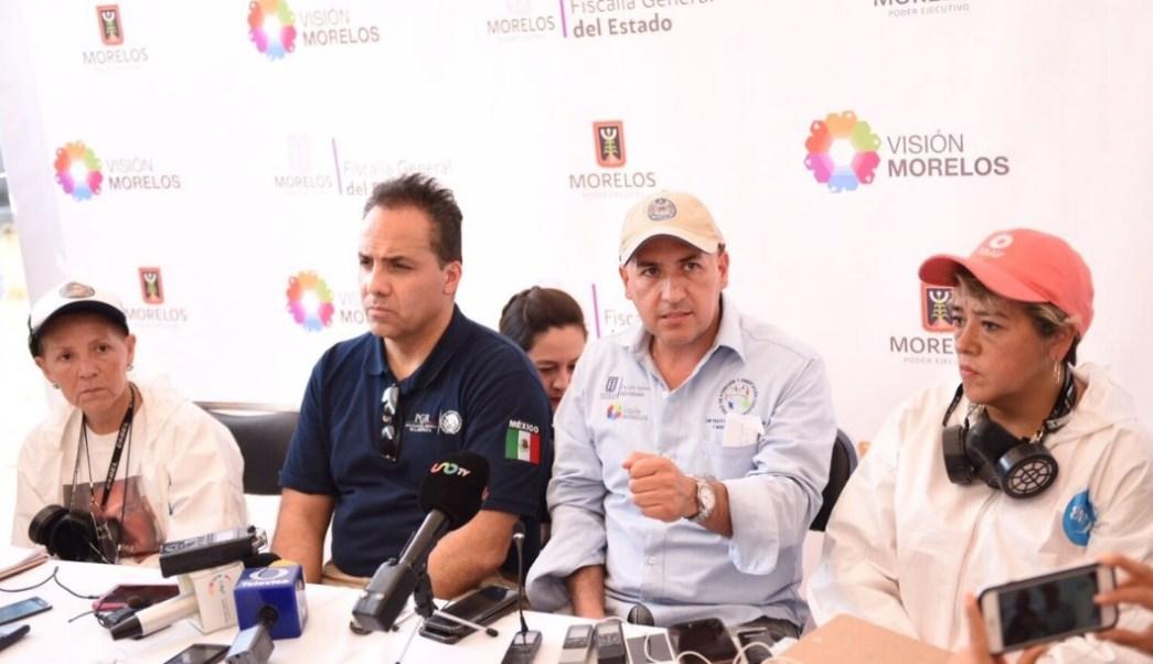 Javier Pérez Durón, fiscal general de Justicia de Morelos, confirmó que no se recuperó ningún cuerpo en el panteón de Jojutla. (Twitter: @duron_perezd)