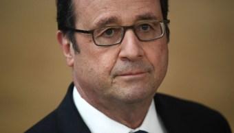 François Hollande, presidente de Francia, durante una conferencia de prensa.
