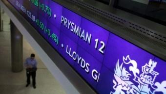 Tablero de la Bolsa de Londres. (Getty Images)