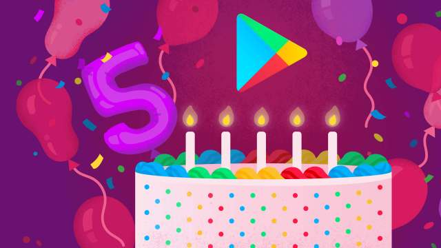 Google Play cumple cinco años (Google)