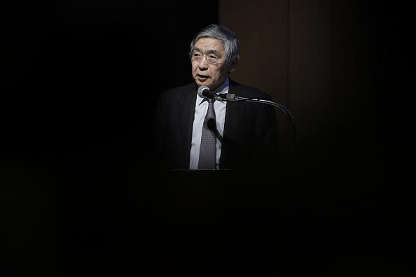 Haruhiko Kuroda, gobernador del Banco de Japón. (Getty Images)