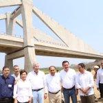 Inauguran puente Barra Vieja - Las Lomas, en Guerrero. (Twitter @HectorAstudillo)