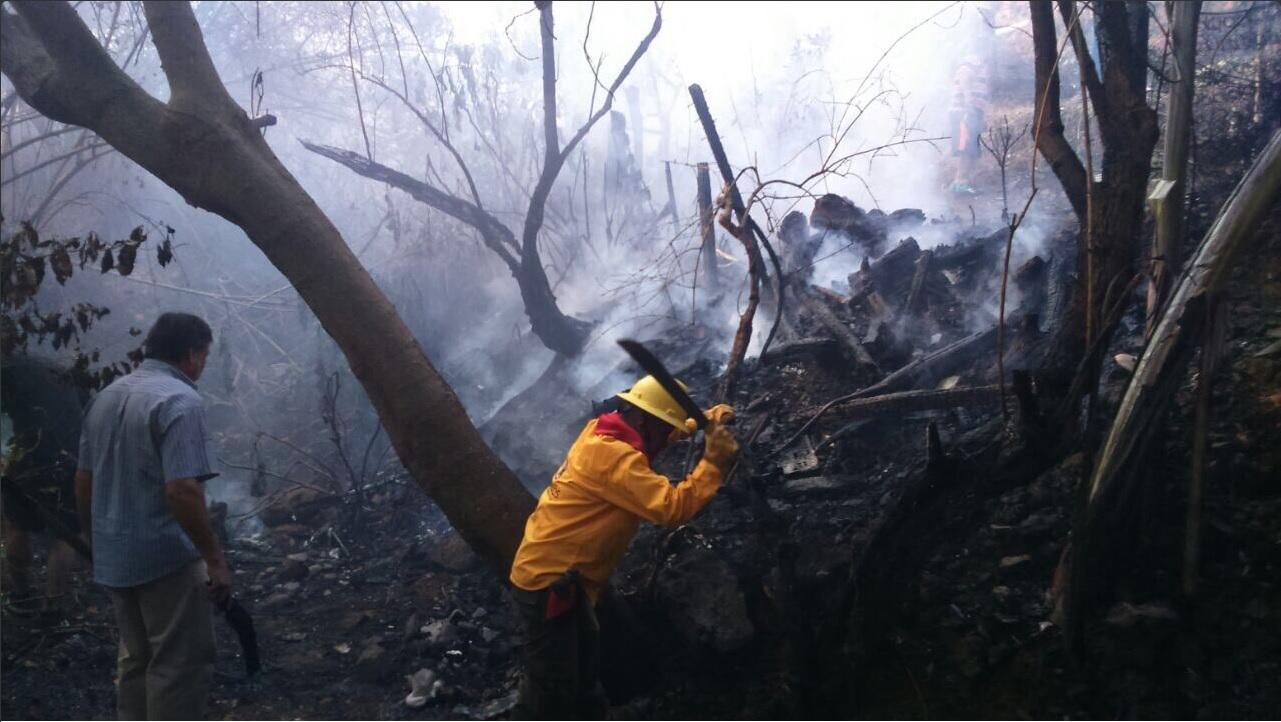 Bomberos atienden incendios forestales en Morelos (Twitter @GobiernoMorelos)