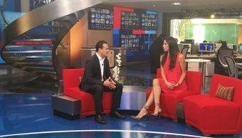 Juan Zepeda en Al Aire con Paola Rojas. (Noticieros Televisa)