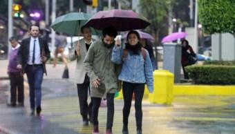 El Servicio Meteorológico Nacional pronostica lluvias de ligeras a moderadas en la Ciudad de México (Notimex)