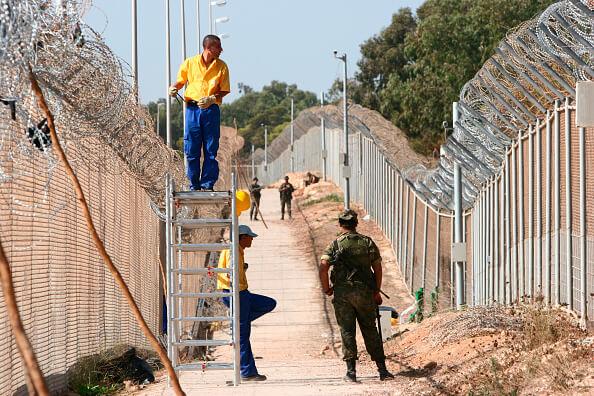 Aspectos de la frontera entre Melilla, España y Marruecos. (Getty images, archivo)