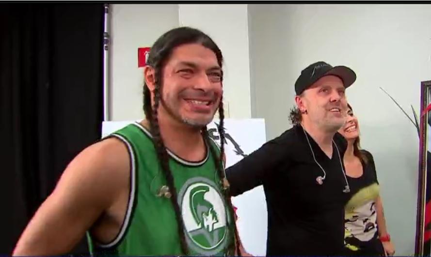 Integrantes de Metallica en su visita a México (Noticieros Televisa)