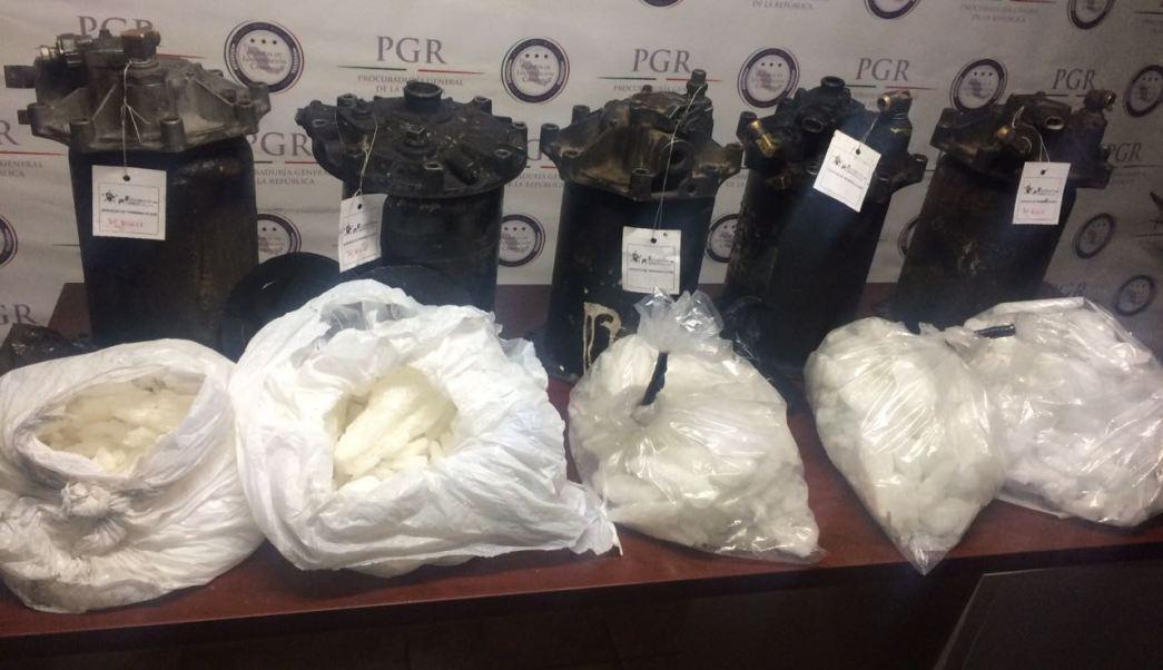 Metanfetamina decomisada en Sonora