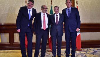 Ministros de Hacienda de Chile, Colombia, México y Perú (Twitter @JoseAMeadeK)