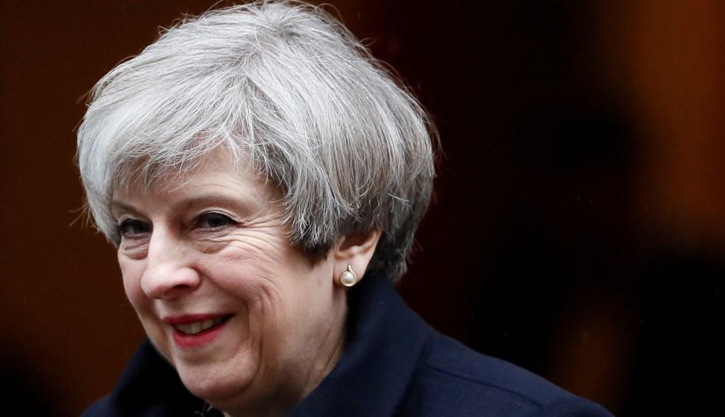 La primera ministra británica, Theresa May, deja Downing Street en Londres, Reino Unido (Reuters)