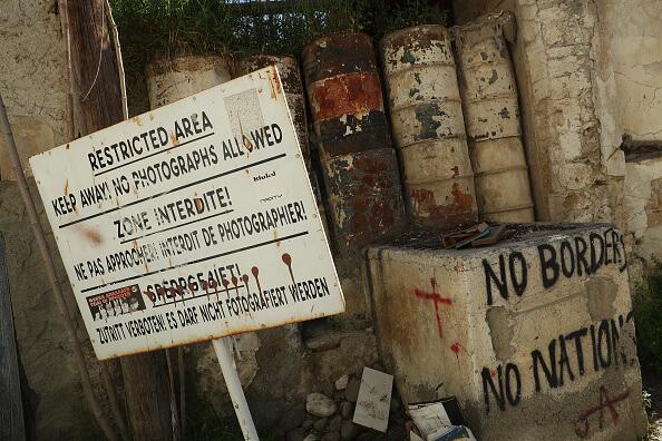 Aspectos del muro en Chipre. (Getty images, archivo)