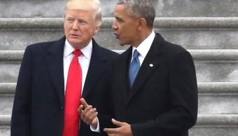 El presidente Trump acusó a su predecesor, Barack Obama, de grabar las conversaciones telefónicas en la Trump