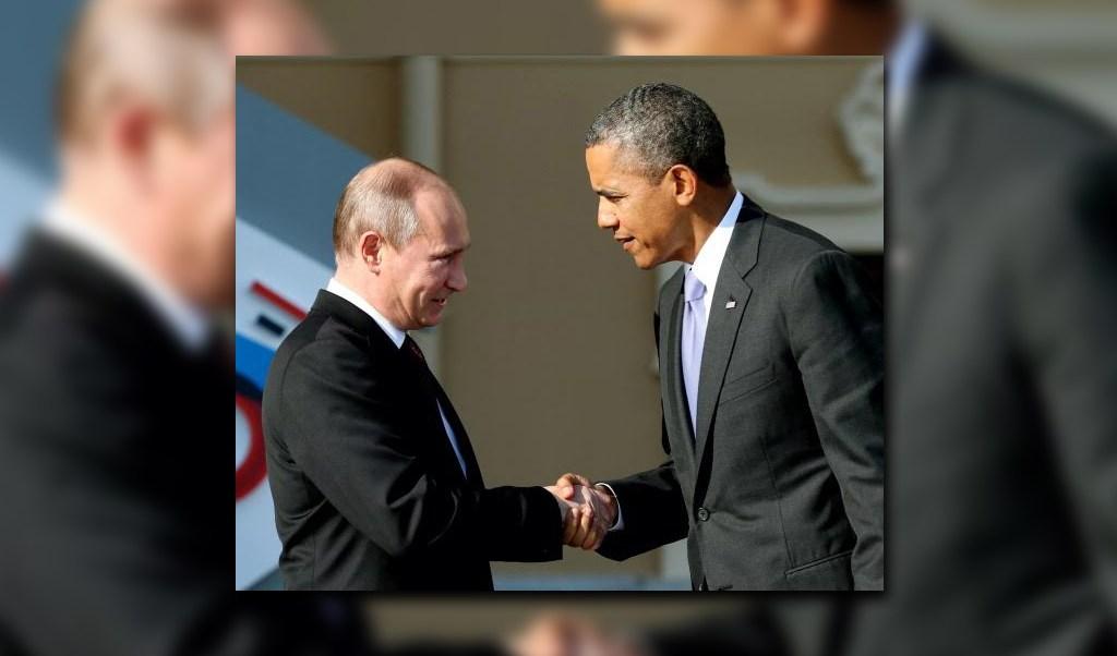 El presidente Putin dio la bienvenida a Obama en San Petersburgo, el 5 de septiembre de 2013 para la cumbre del G20. (Getty Images, archivo)