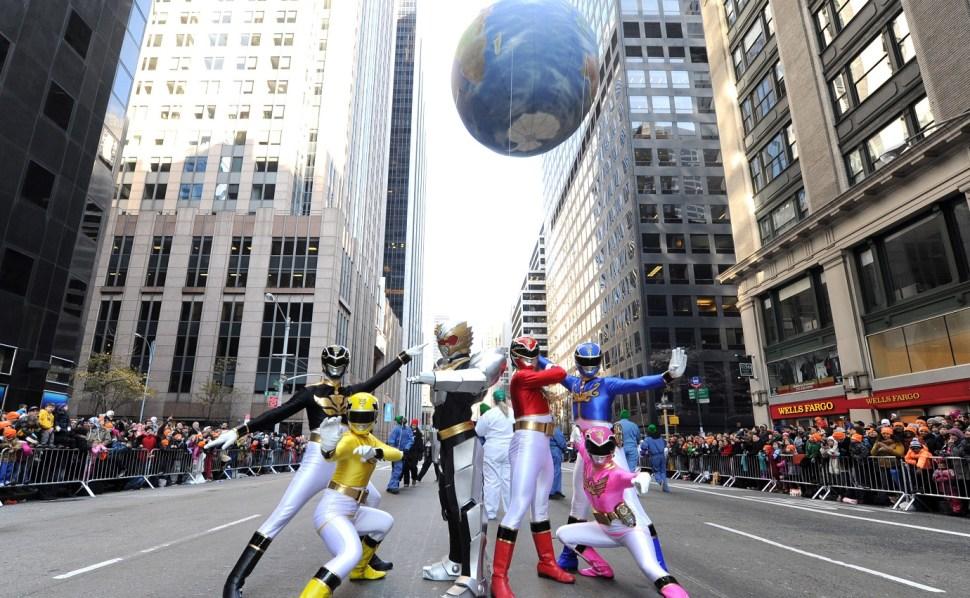 Imagen de Power Rangers tomada durante un desfile en Nueva York en 2012. (AP/Archivo)