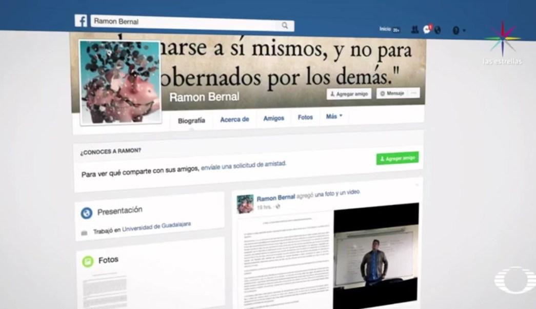 En una carta publicada en Facebook, Ramón Bernal señaló que el video que se difundió fue de dos minutos de una clase que en realidad duró una hora. (Facebook: Ramón Bernal)