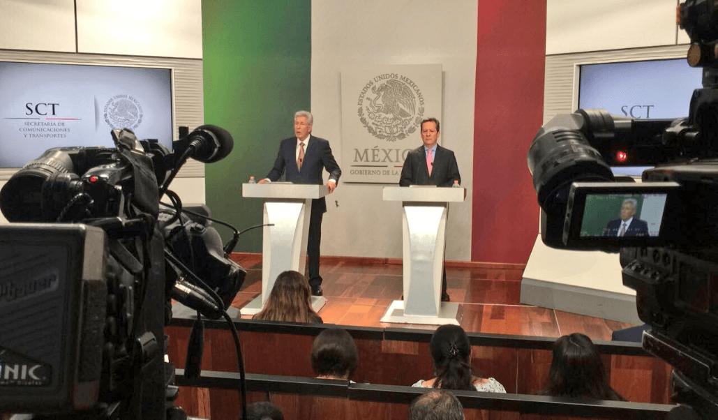 Ruiz Esparza, titular de la SCT y Eduardo Sánchez, vocero del Gobierno Federal (@ESanchezHdz)